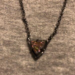 Kendra Scott gunmetal multi drusy necklace